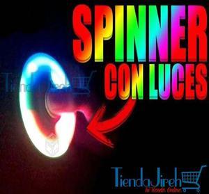 Juguete Fidget Spinner Con Luces Led Anti Estrés Original