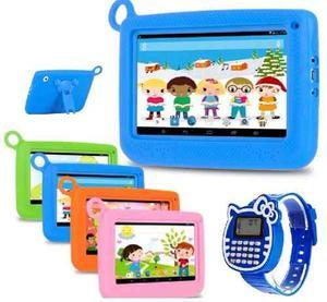 Tablet Niños + Reloj + Funda 1gb Ram 4 Núcleos Android