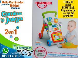 Bello Caminador para Bebé CAMINA Y JUEGA, varias etapas del