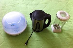 Esterilizador de teteros para microondas
