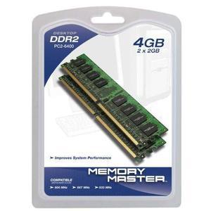 Memoria Memory Master 4 Gb 2 Por 2 Gb Ddr Mhz Pc