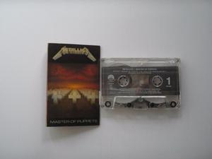 Metallica Master Of Puppets Cassette Prim Edic Pri Usa