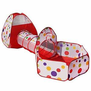 Piscina Y Tunel Pelotas Niños 3 En 1 Bebe Importado