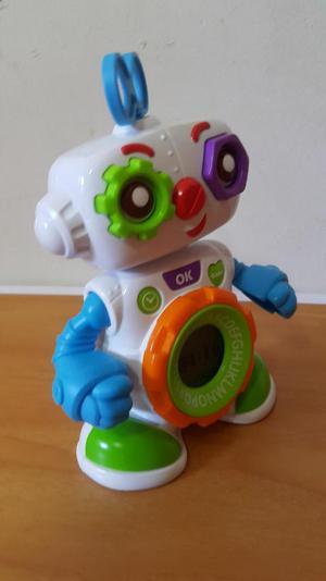 Ref.  Robot Reloj Para Bebe con Sonidos en Ingles 15 cm