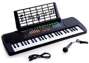 Children 49 Keys Electronic Piano Music Keyboard Black Kb49