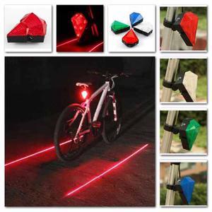 Luz Stop Bicicleta 9 Led 2 Laser Recargable Seguridad