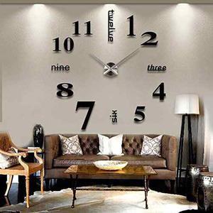Reloj De Pared De Número Grande Diy Soledi Moderno 3d