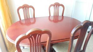 Comedor en madera 4 puestos bogot posot class for Comedor 4 puestos vidrio