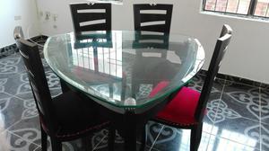 Comedor triangular con cristal posot class for Comedor 4 puestos vidrio