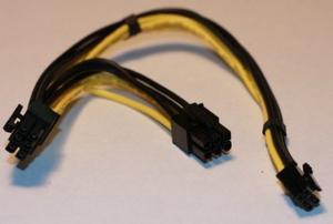 Pcie Dual Pci-e De 6 Pines Cable De Alimentación Para Mac