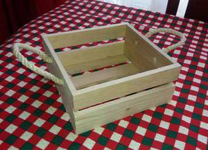Huacales-caja En Madera 30x30 Desayunos Sorpresa