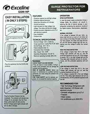 Protector Contra Sobretensiones Exceline Para Refrigeradores