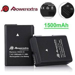 2 X Batería De mah En-el14a Para Nikon D D