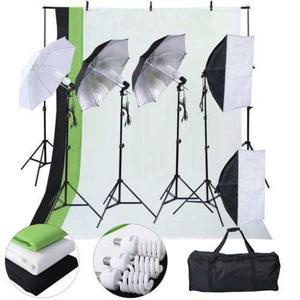 Nuevo Foto Estudio Fotografía Kit 4 Bombilla Paraguas 3