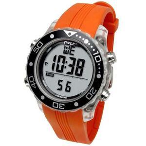 Reloj Multifuncional Pyle Naranja De Muñeca Para Buceo