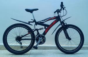 Bicicleta Gw Caronte Todo Terreno Rin 24 Doble Suspensión