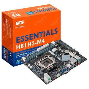 Board Ecs H81h3-m4 Lga Ddr3 Hdmi Dvi Vga Usb 3.0 Nueva