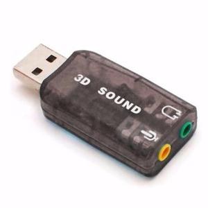 Tarjeta De Sonido Usb 5.1. Audifonos Y Microfono 3.5mm