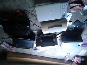 vendo 6 impresoras para repuestos,3 prenden y falta