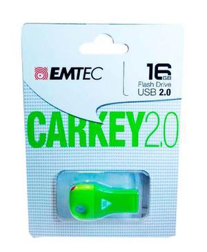 Memoria Usb Emtec 16gb Carkey 2.0 Verde