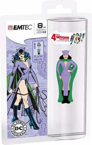 Memoria Usb Emtec 8gb Catwoman Muñeco