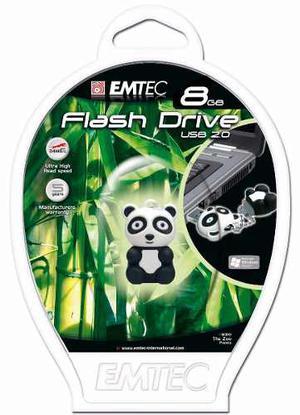 Memoria Usb Emtec 8gb Oso Panda