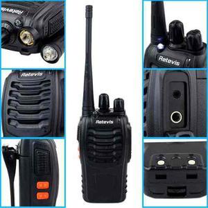 4 X Retevis H-777 Uhf16ch Walkie Talkie 3.7v mah Radio