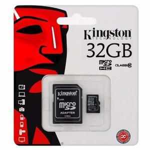 Memoria Micro Sd 32 Gb Kingston Clase 10 + Adaptador