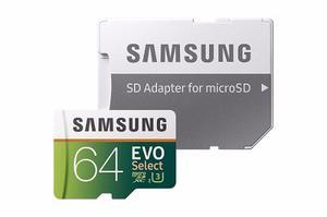 Memoria Samsung Evo Micro Sd 64 Gb Clase 10 U Mb/s 4k