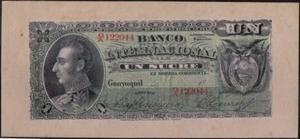 Ecuador Banco Internacional 1 Sucre 18xx Ps172