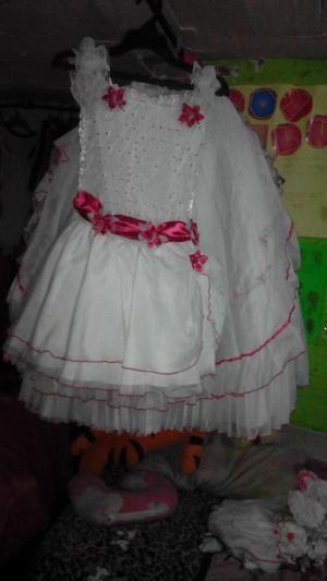 Vestido de Primera Comunion Fucsia