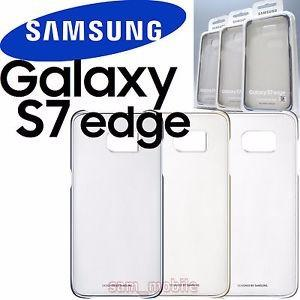 Carcasa Clear Cover Samsung Galaxy S7 Edge, Dorado.