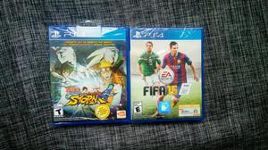 Combo Juegos Ps4 Fifa Y Naruto