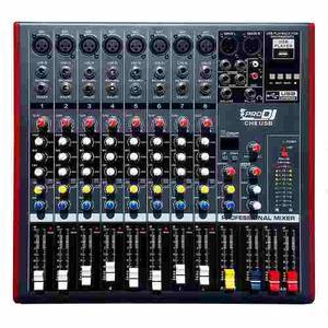 Consola Mezclador Audio Pro Dj Ch8usb 8ch