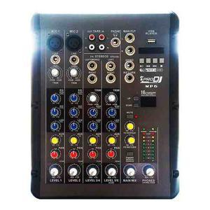 Consola Mezclador Audio Pro Dj Mp6 4ch
