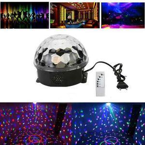 Esfera Bola Disco Cristal Led Rgb 10 W Control Dj Bluetooth