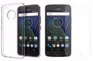 Forro Estuche Protector Motorola Moto G5 Plus + Vidrio 9h