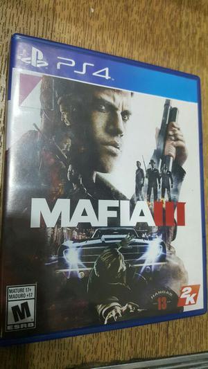 Mafia 3 Lll para Play 4 Casi Nueva