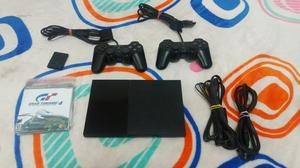 Play 2 Slim con Dos Controles Y Memoria