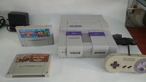 Super Nintendooo con 2 Juegos Dk 2 Y Dk