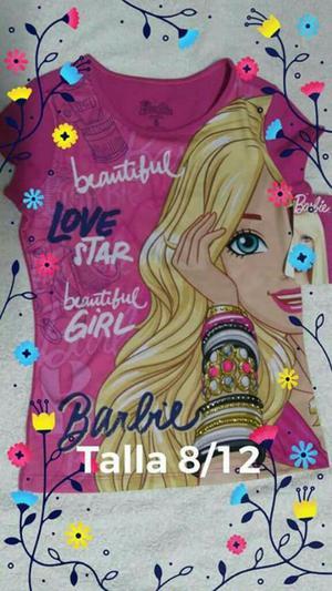 Blusa de Barbie Talla 8 Y12. Nuevas