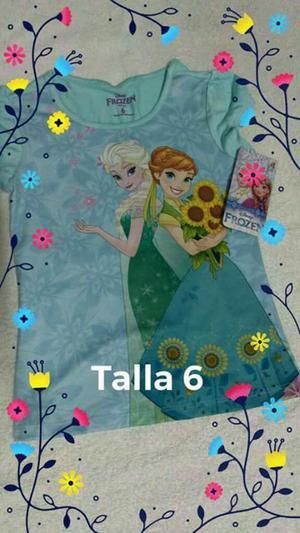 Blusa de Frozen Talla 6 Nueva