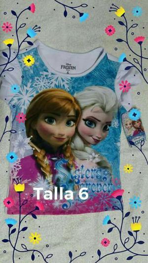Blusa de Frozen para Niña Talla6 Nueva