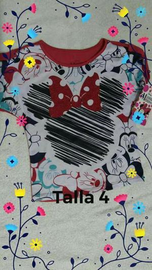 Blusa de Minnie Talla 4 Nueva