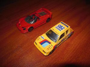 Burago, Ferrari F50 y Peugeot 205 Turbo 16, escala 143,