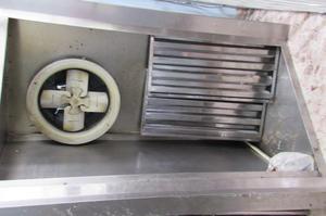 Campana extractor de motor en acero