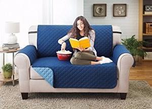 Elaine Karen Protector Reversible De Muebles Azul-azul Claro