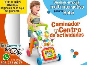 Estupendo Caminador y Centro de Actividades para tu Bebé.