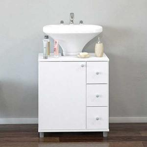 Lavamanos mueble y griferia de lujo posot class - Mueble blanco pared ...