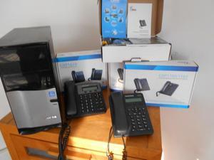 Planta Digital Telefonia Ip Cpu + 4 Telefonos Grandstream